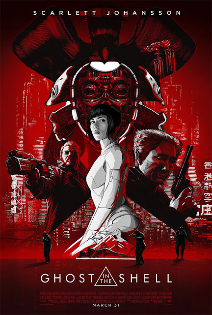 Ghost in the Shell | Espectacular poster... ¡Rojo!