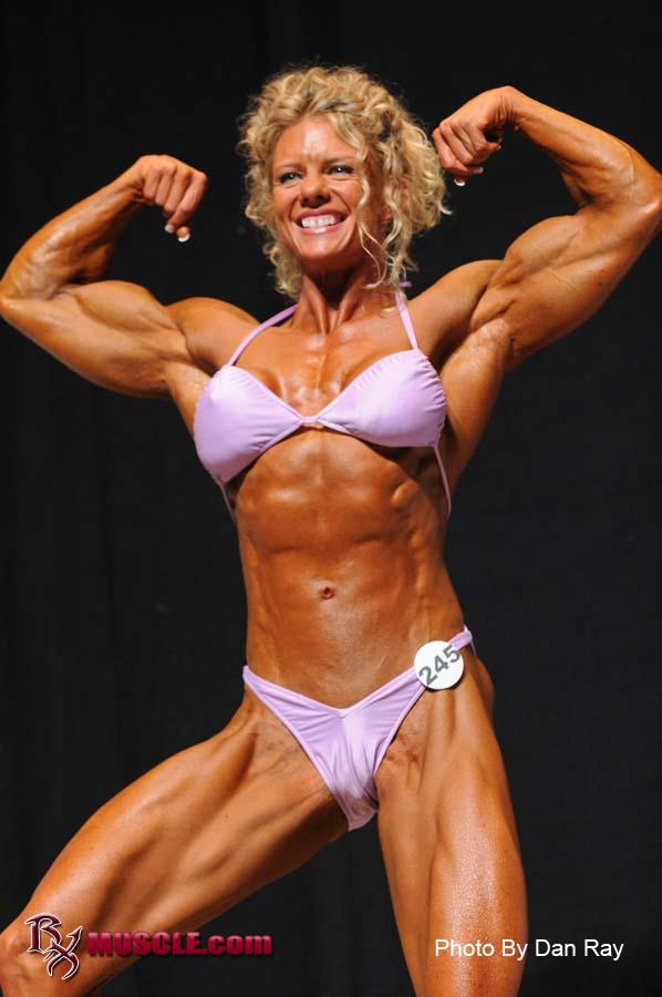 Female Bodybuilder Rebekka Armstrong - 2009 NPC USA Bodybuilding Championships - 7th Place Light-Heavyweight