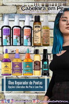 Óleo Reparador de Pontas Liberado para No Poo - Yenzah, Yamasterol, BetoBita, Lola Cosmetics, The Body Shop e Haskell
