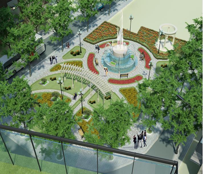 quảng trường the green daisy