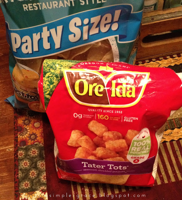 A recipe made with Ore-Ida tater tots!