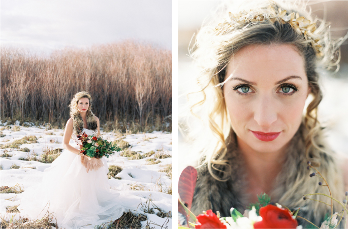 Orange Photographie / Hair & Makeup: Alexa Mae / Flowers & Styling: Katalin Green / Dress: Poppy Bride
