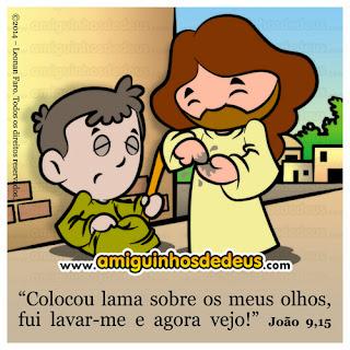 Resultado de imagem para desenho de jesus curando o cego de nascença