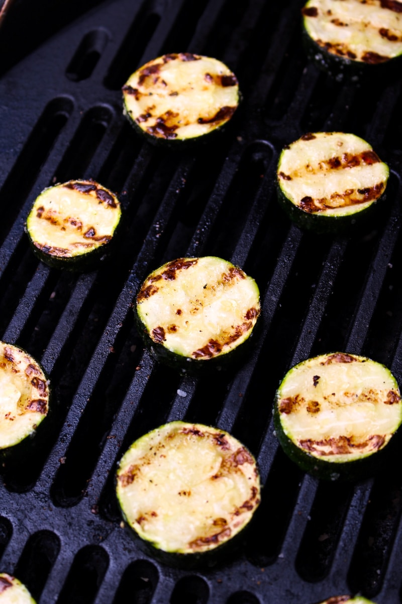 Grilled Zucchini is the perfect summer side dish because it's healthy, delicious, and super easy to prepare! #grilling #zucchini #sidedish