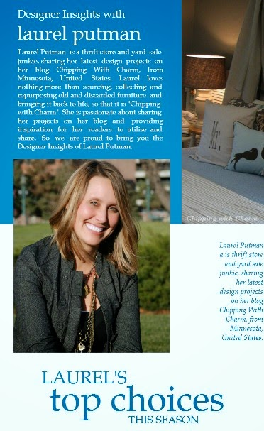 Chipping with Charm: Laurel Putman, Designers Insights...http://www.chippingwithcharm.blogspot.com/