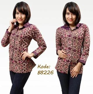 Koleksi Model Baju Batik Kantor Wanita
