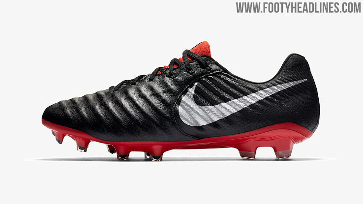 bdd047463 1 of 2. 2 of 2. 1 of 2. Predominantly black, the new Nike Tiempo Legend 7  Elite cleats have a silver metallic ...