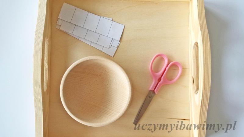 Cięcie pasków Montessori
