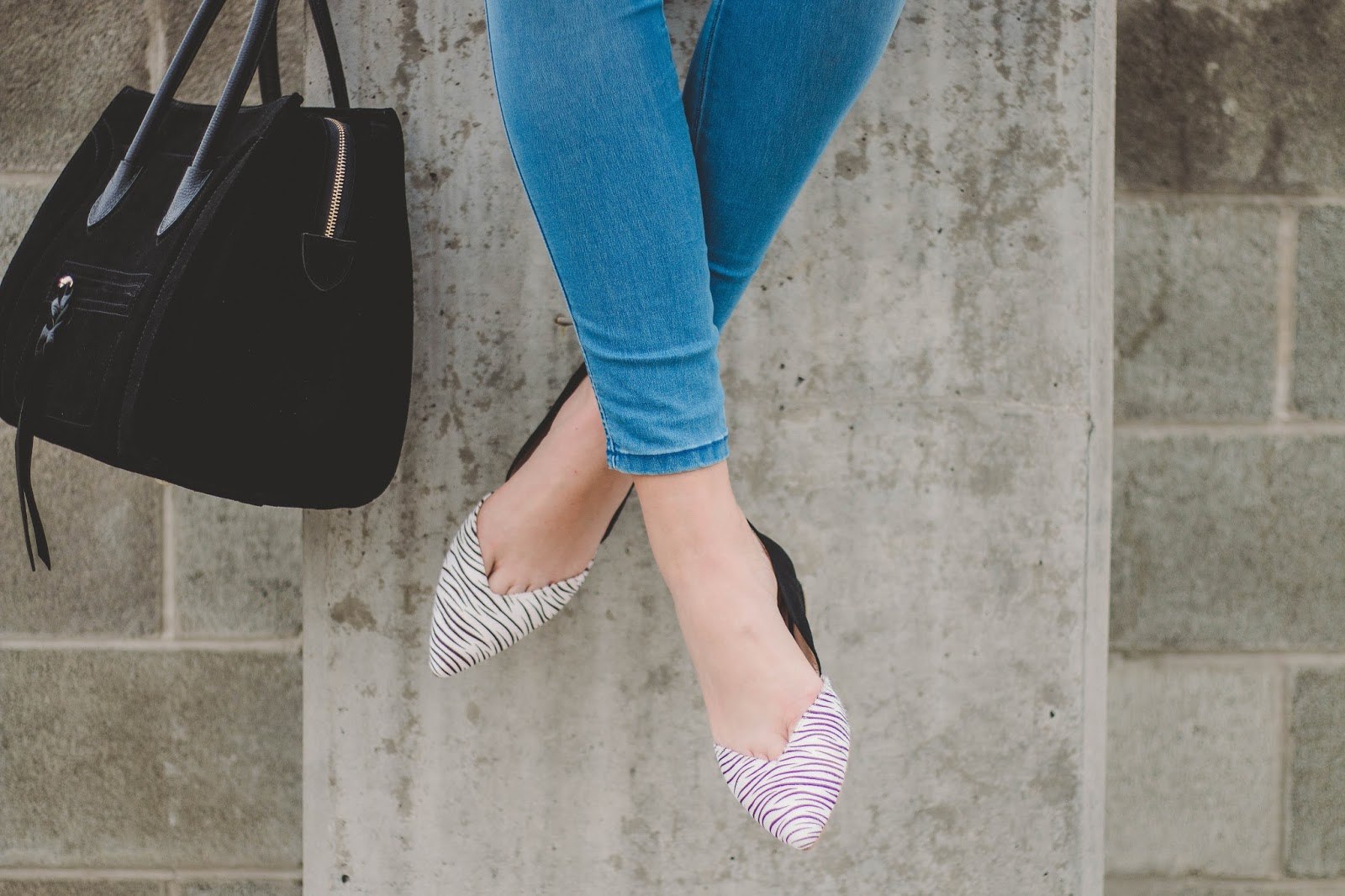 Alysia Shoes, Zebra Print, Comfortable Flats