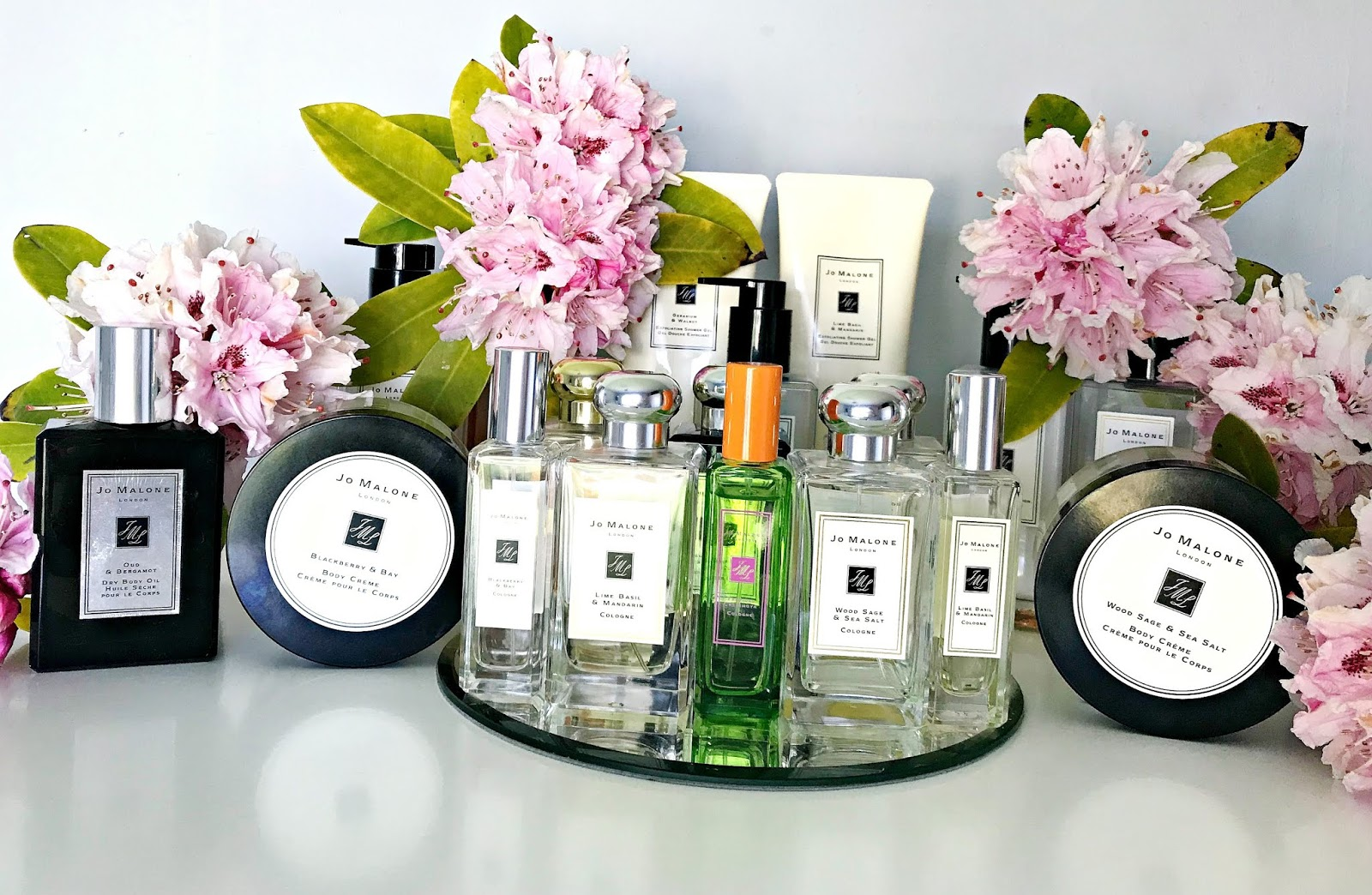 Basil & Neroli, Bath & Shower Oil, Blackberry & Bay, Body Cream, Hand & Body Lotion, Jo Malone, Lime Basil & Mandarin, Orange Bitters, Orange Blossom, Shower Gel, Tropical Cherimoya, Wood Sage & Sea Salt,  Review