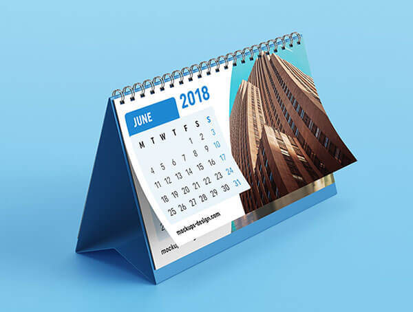 Mockup PSD Kalender 2019 Terbaru - Free Desk Tent calendar mockup