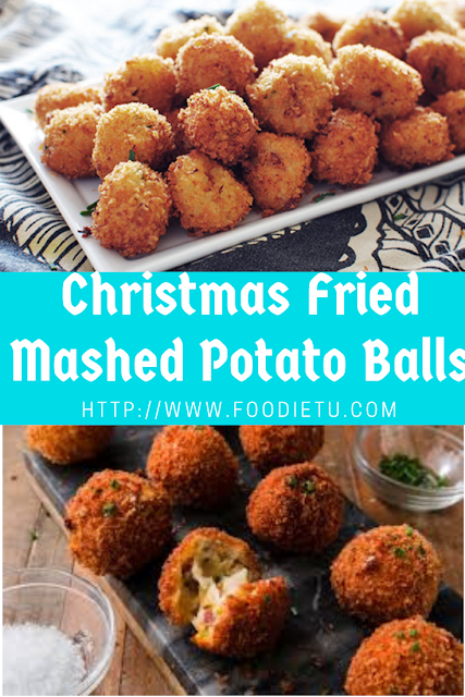 Christmas Fried Mashed Potato Balls