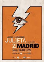 Concierto de Julieta 21 en Boite Live