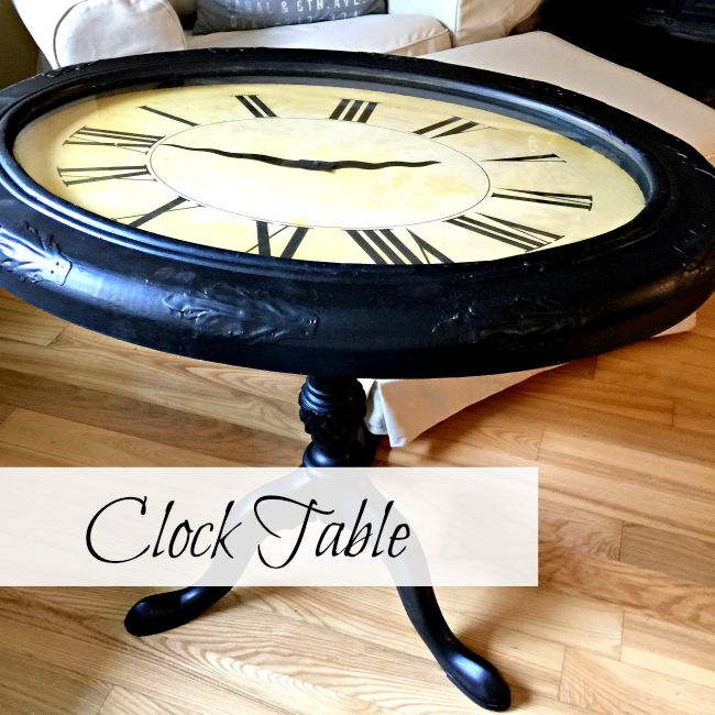 repurposed clock table www.homeroad.net