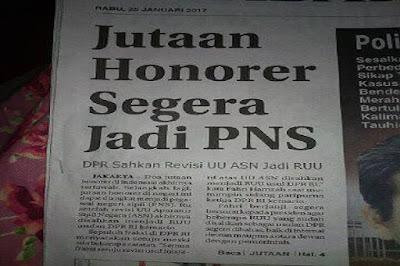 Image result for JUTAAN HONORER JADI PNS