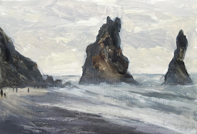 #108 'Reynisdranger Sea Stacks', Iceland' 20x30cm