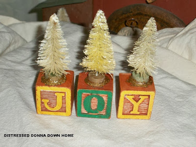 bottle brush trees, blocks
