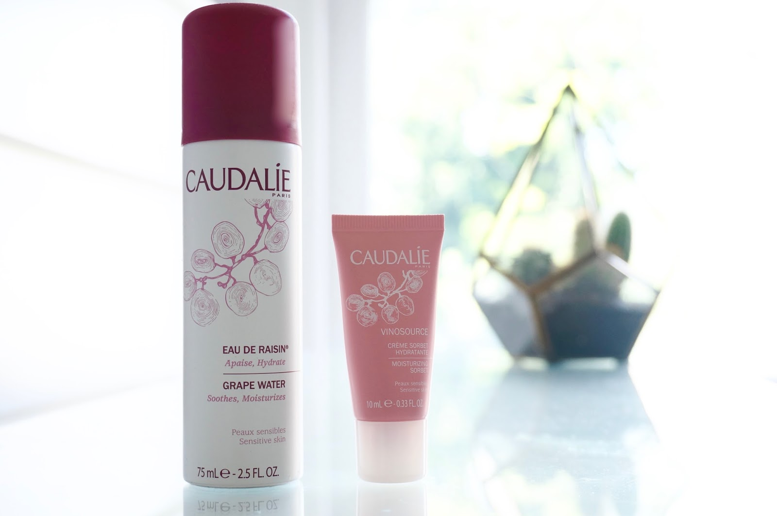 Caudalie Vinosource sorbet, grape water spray