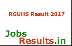 RGUHS Result 2017