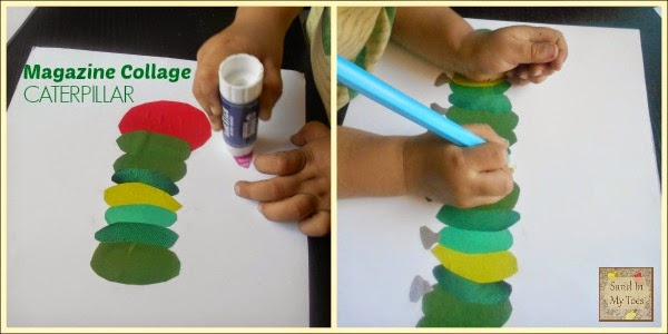 Making A Magazine Collage Caterpillar