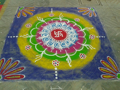 New Year Rangolis