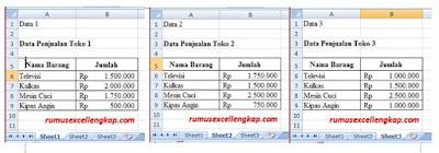data untuk fitur consolidate