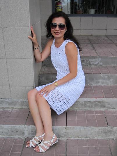 Платье крючком для начинающих со схемой и описание