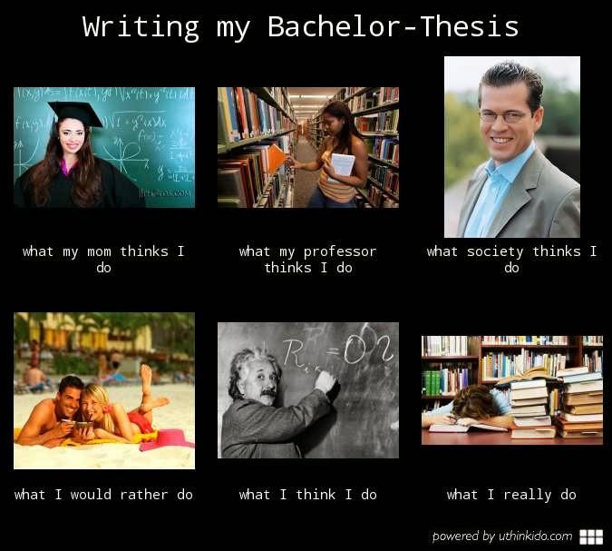 Writing my bachelor thesis
