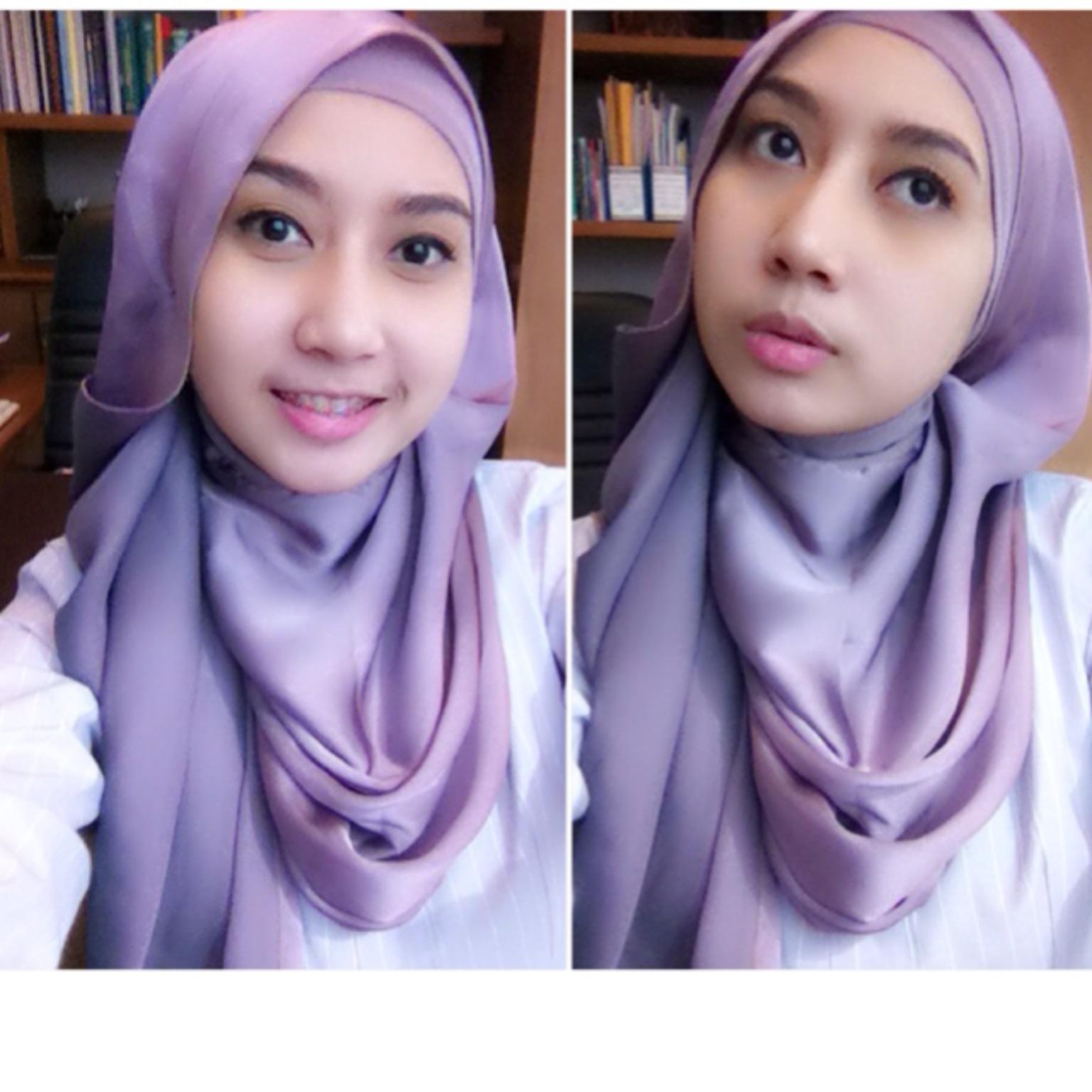 84 Gambar Menarik Tutorial Hijab Pashmina Bahan Licin Paling Update