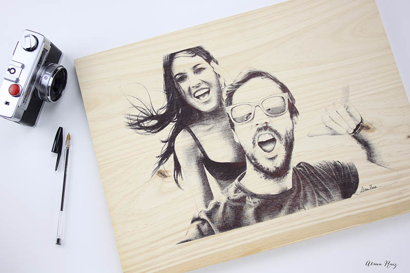 Encargos de retratos de pareja para regalar