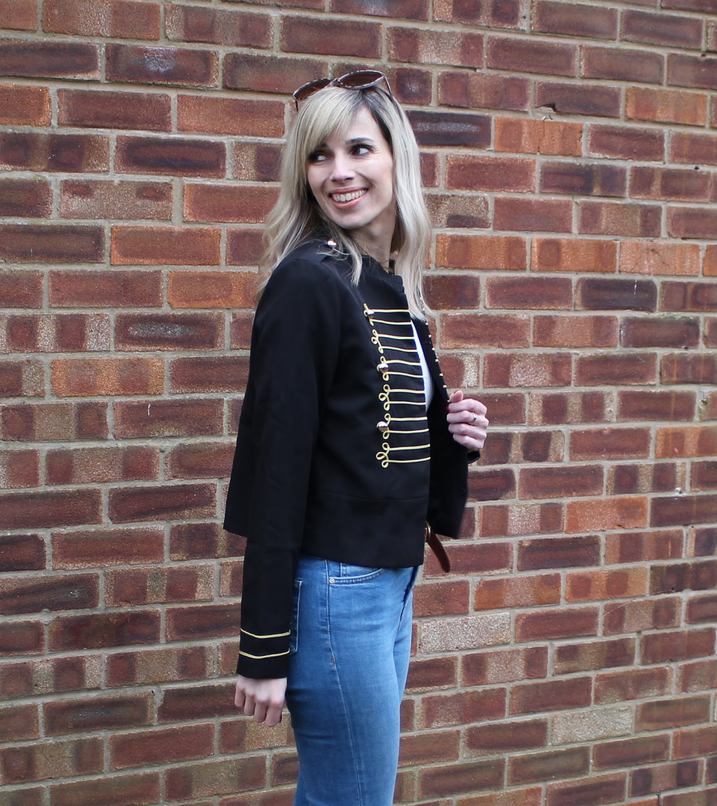 OOTD featuring a cropped military jacket from Shein - 4