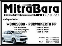 Jadwal MitraBara Travel Wonosobo - Purwokerto PP