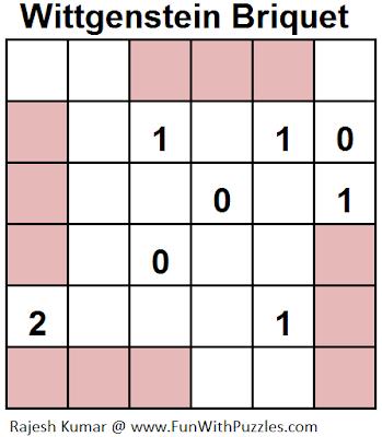 Wittgenstein Briquet (Mini Puzzles Series #13) Solution