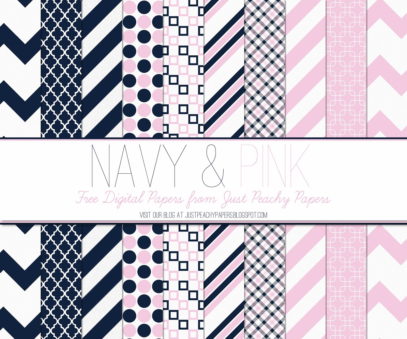 free navy and pink digital paper