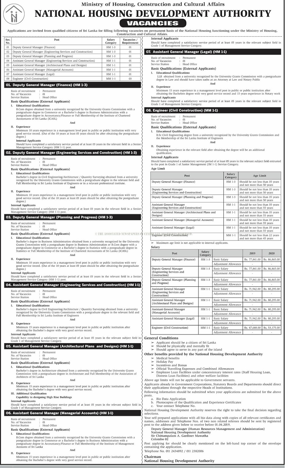 Vacancies at National Housing Development Authority