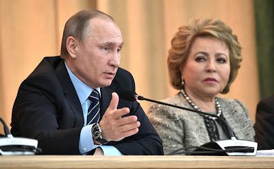 Vladimir Putin and Valentina Matviyenko.