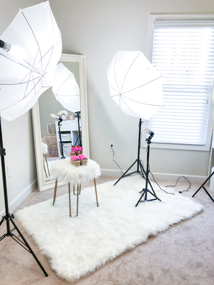 blog lighting setup