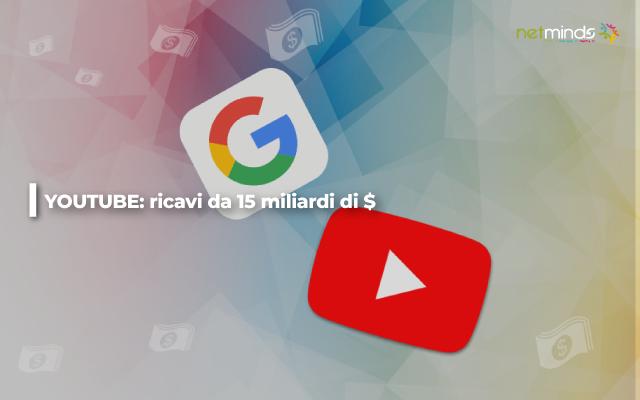 youtube guadagna 15 miliardi