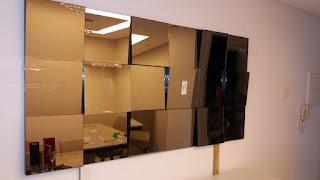 foto de espelho decorativo em 3d broze prata e fume