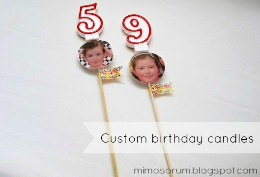Velas de cumpleaños personalizadas.Diy: custom birthday candles