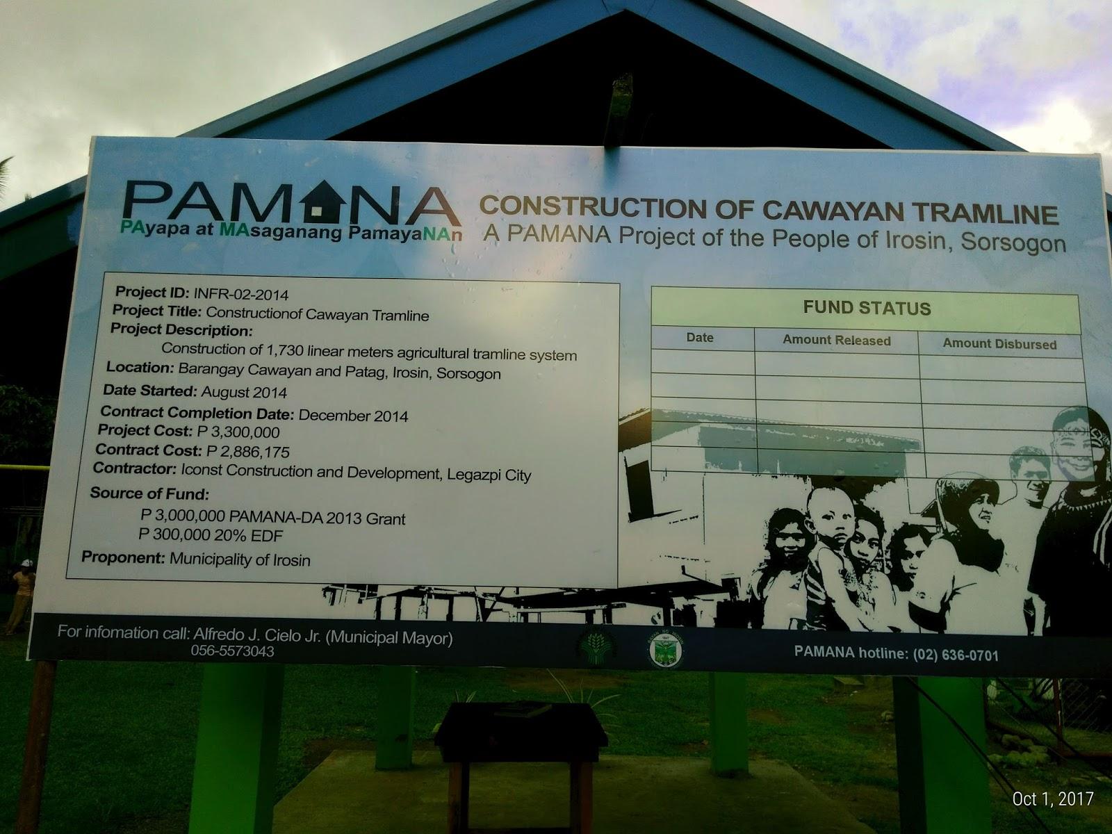 cawayan tramline patag irosin sorsogon