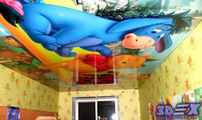 3d ceiling for kids room, 3d ceiling mural for kids false ceiling
