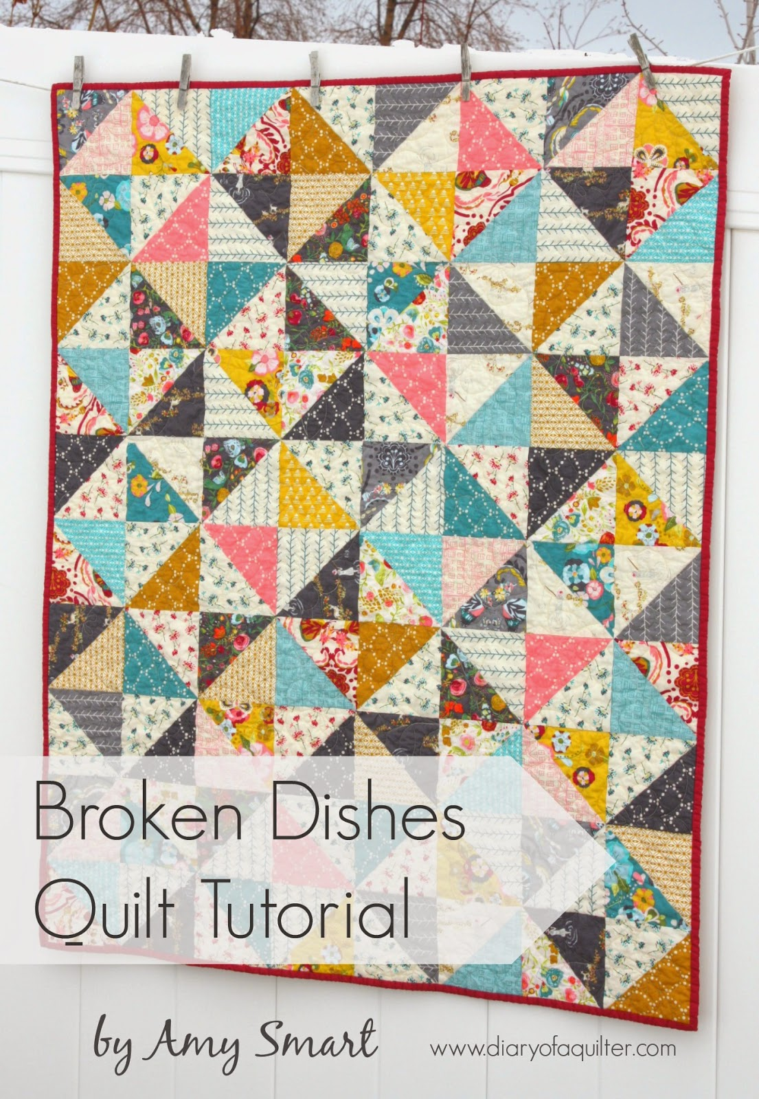 Broken Dishes Baby Quilt Tutorial