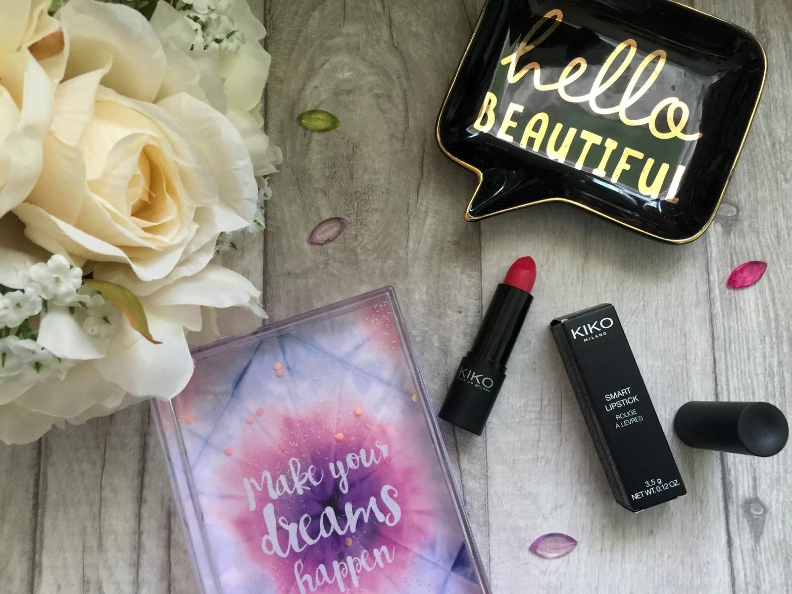 kiko smart lipstick in 912 crimson red