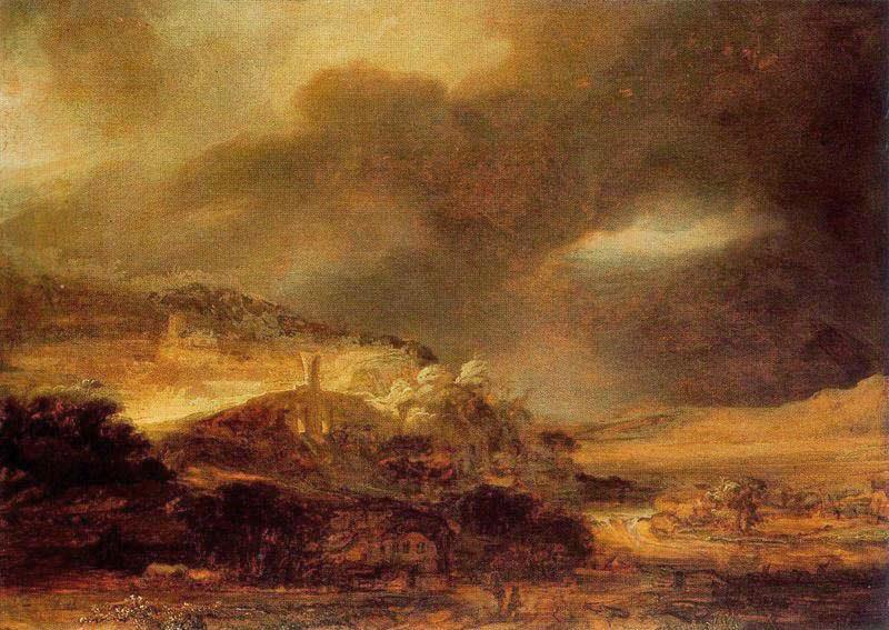 paesaggio in tempesta