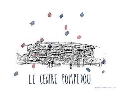 le centre pompidou, affiche à télécharger, freebies, FLE, le FLE en un 'clic'