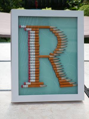 quadretto decorativo riciclando le matite