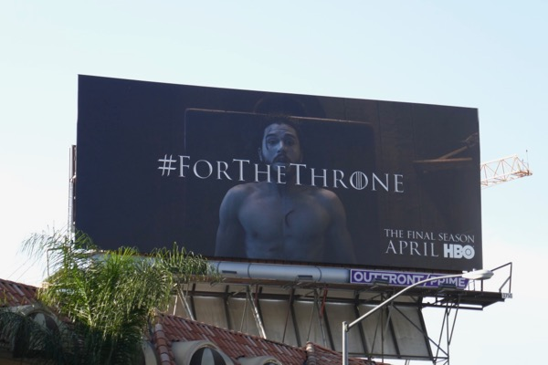 Game of Thrones final season teaser Jon Snow billboard
