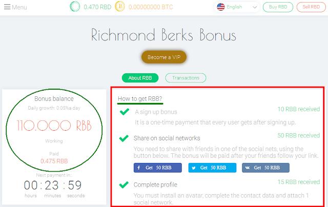 Langkah-langkah dapat bonus dari Richmond Berks