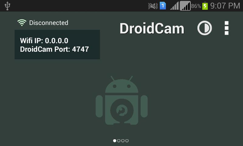 Full DroidCam screenshot